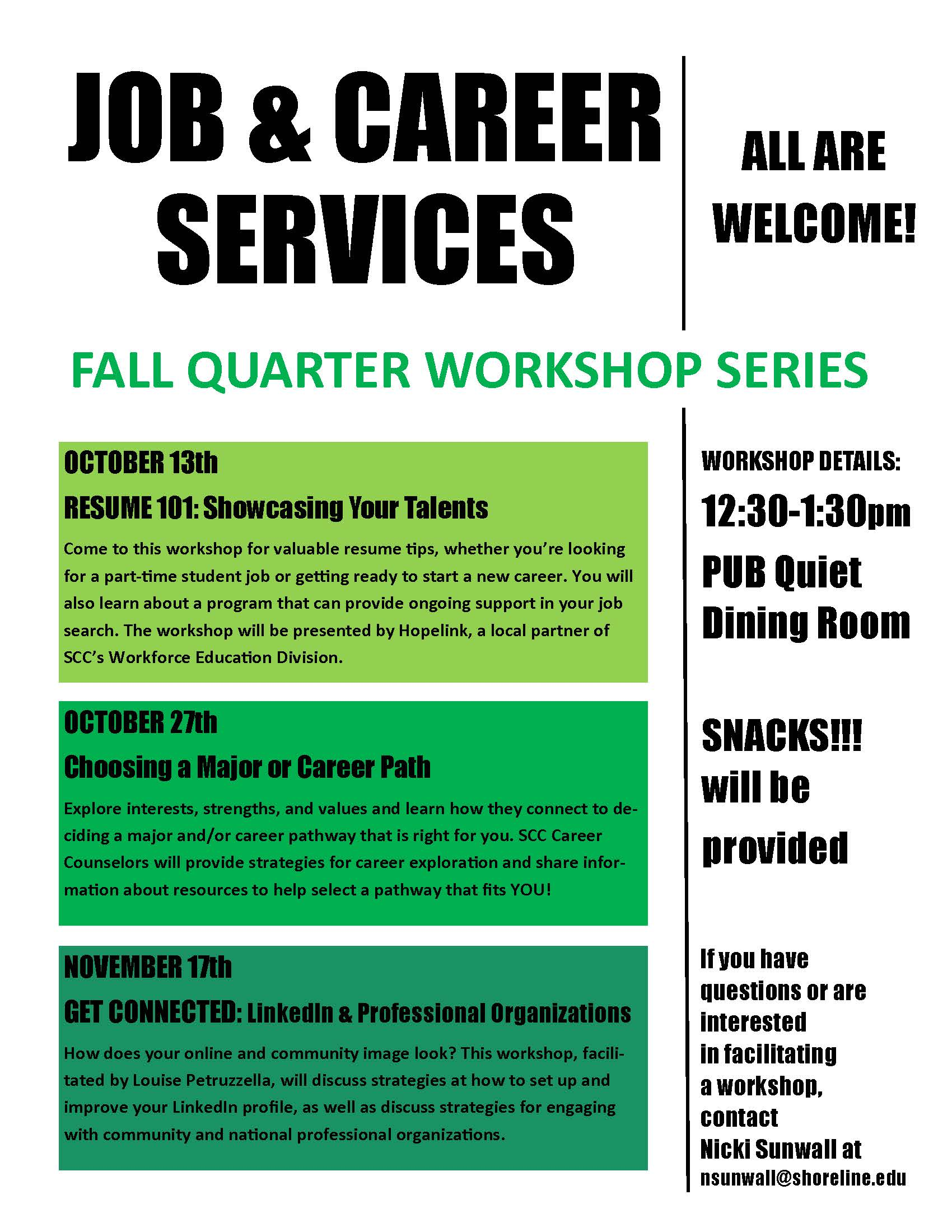 Job & Career Workshops - FALL FLYER 2015 jpeg