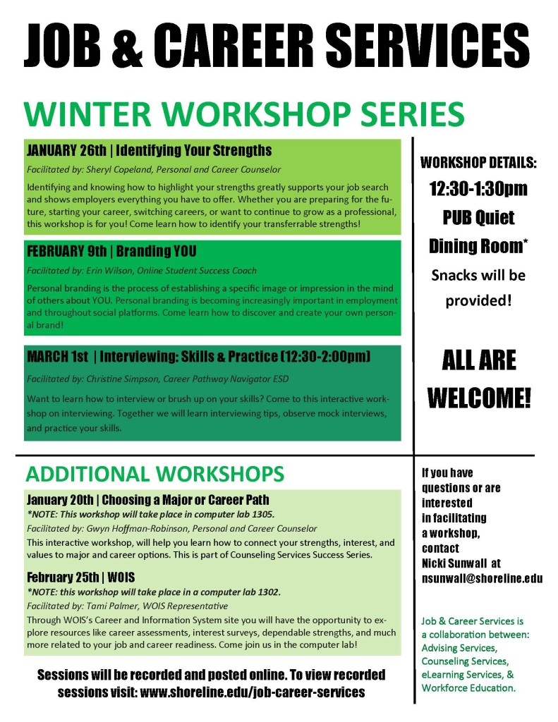 J&CS WINTER WORKSHOPS - 2016