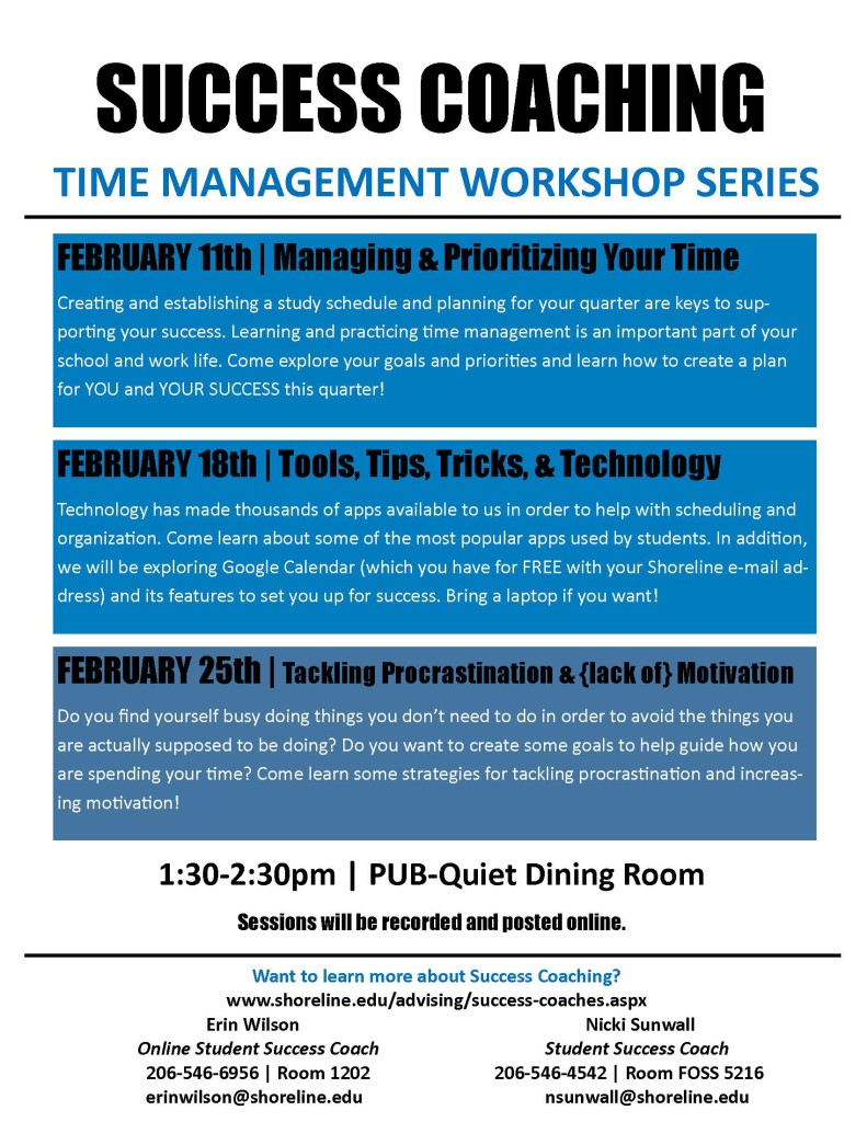 Time Management Workshop Series - WQ 2016
