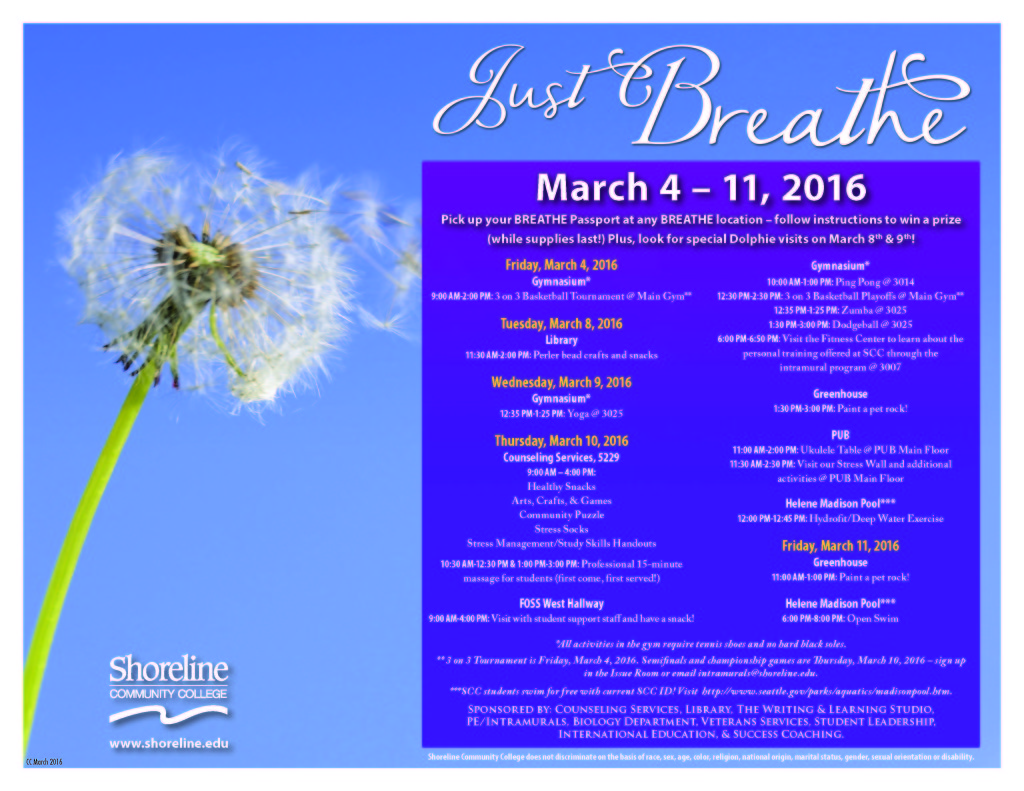 breathe Schedule March2016