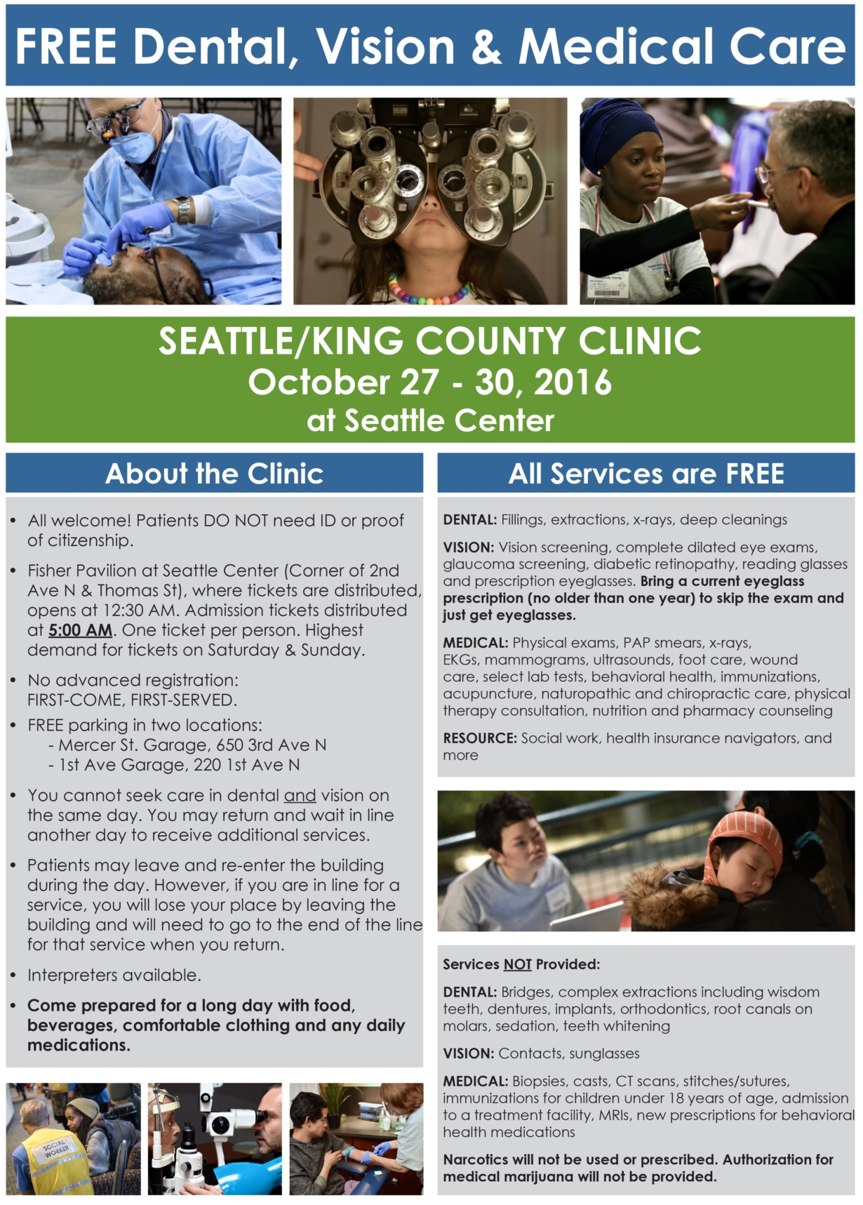 Seattle King County Clinic Free Dental Vision And Healthcare Oct