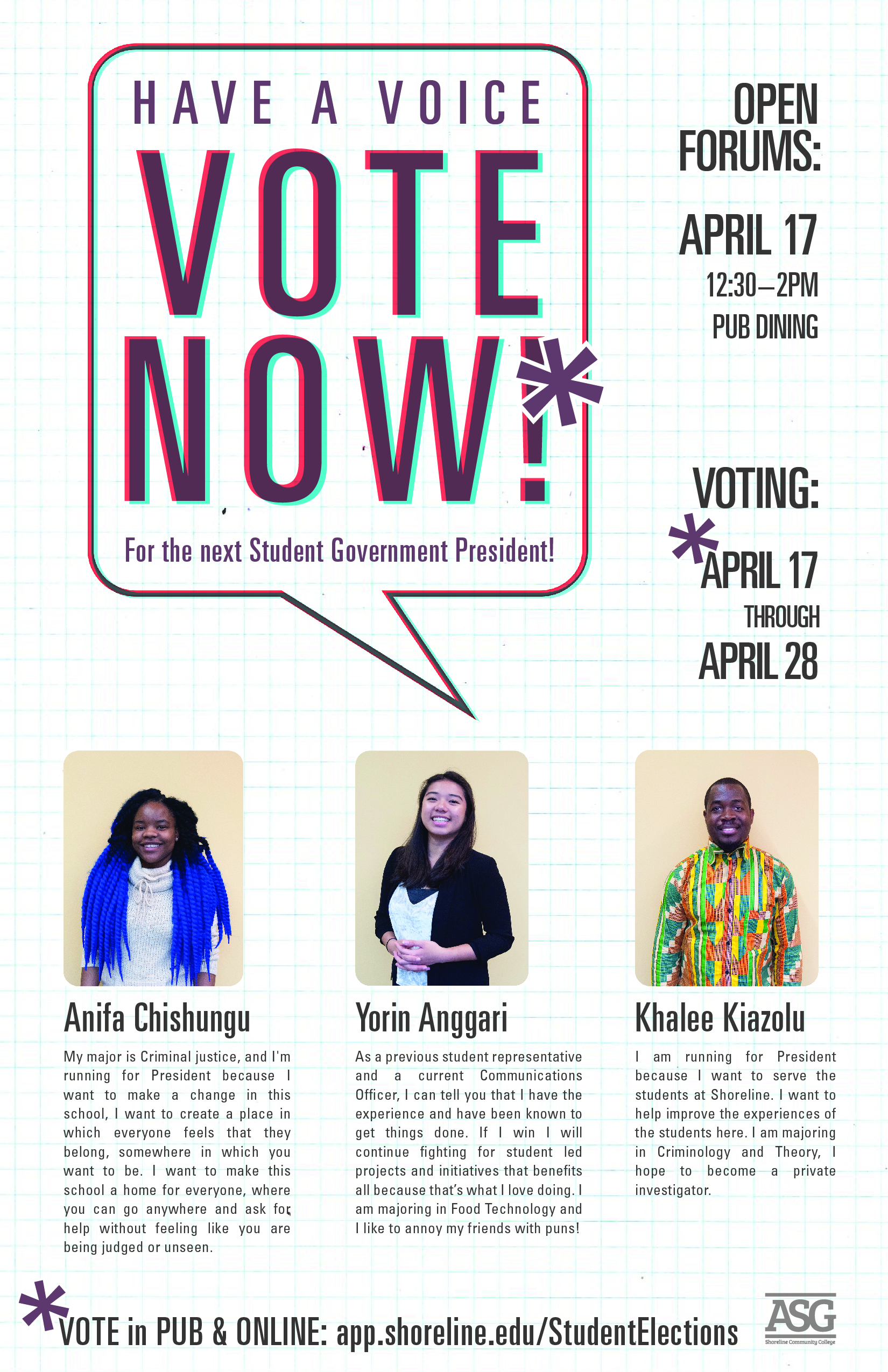 Vote Now for the Next Student President